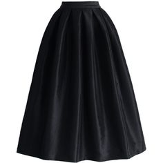 Chicwish La Diva Pleated Full Skirt in Black ($39) ❤ liked on Polyvore featuring skirts, bottoms, black, faldas, high rise skirts, full pleated skirt, high-waisted full skirts, full skirt and la diva