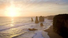 Witness the rugged splendour of the famous 12 Apostles, magnificent rock stacks that rise up from the Southern Ocean on Victoria& dramatic coastline. Coast Australia, Australia Travel, Melbourne Australia, South Australia, 12 Apostles Australia, Great Places, Places To See, Melbourne Trip, Road Routes