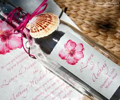 Better Homes and Gardens Editors searched thousands of wedding invitations, this bottle invitation is one of their TOP PICKS. Perfect for a destination wedding on the beach!