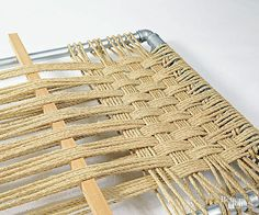DIY Rope Headboard What can you do with feet of rope and a few plumbing parts? Make this clever DIY headboard.<br> What can you do with feet of rope and a few plumbing parts? Make this clever DIY headboard. Custom Headboard, Diy Headboards, Storage Headboard, Headboard Ideas, Picture Frame Headboard, Picture Frames, Chaise Diy, Palette Diy, Woven Chair