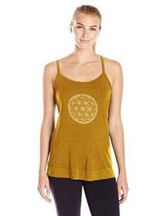 Gaiam Womens Sienna Tank Bronze with Graphic Large -- Details can be found  by clicking