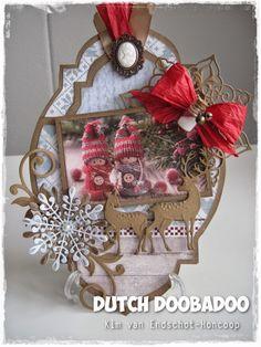 Dutch Doobadoo Create Christmas Cards, Christmas Gift Tags, Vintage Christmas Cards, Handmade Christmas, Christmas Crafts, Merry Christmas, Christmas Ornaments, Easel Cards, Marianne Design