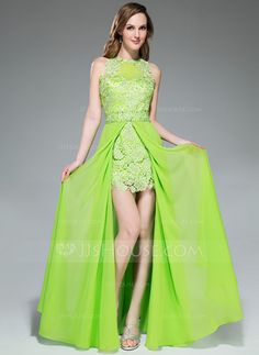 Prom Dresses - $146.99 - A-Line/Princess Scoop Neck Floor-Length Chiffon Tulle Prom Dress With Beading Sequins Split Front (018046239) http://jjshouse.com/A-Line-Princess-Scoop-Neck-Floor-Length-Chiffon-Tulle-Prom-Dress-With-Beading-Sequins-Split-Front-018046239-g46239
