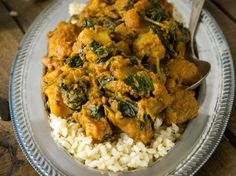 Super Simple Spinach and Potato Curry