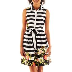 Trend Tuesday is all about the black & white #eclecticenthusiast #springtrends  JCP shirtdress