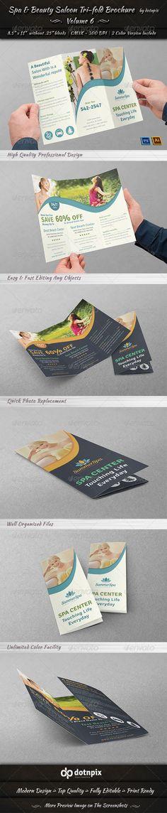 Spa & Beauty Saloon Tri-fold Brochure | Volume 6