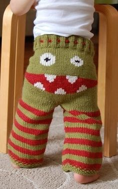 Monster Booty Pants 18-24 Months #crankypantsknits #knit #baby $80.00