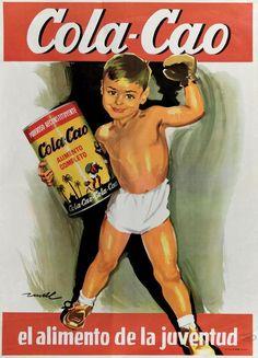 Cárteles antiguos de publicidad- Colacao 1960