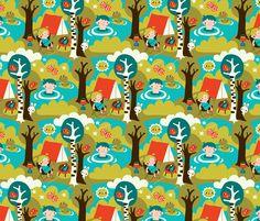 Camping fabric by bora on Spoonflower - custom fabric
