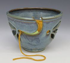 Yarn Bowl  Rutile Blue Glaze by toddpletcher on Etsy, $35.00