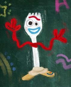 (notitle) - Forky - HoMe 3d Street Art, Street Art Graffiti, Graffiti Artists, Chalk Drawings, Art Drawings, Dibujos Toy Story, Cumple Toy Story, Chalk Design, Sidewalk Chalk Art