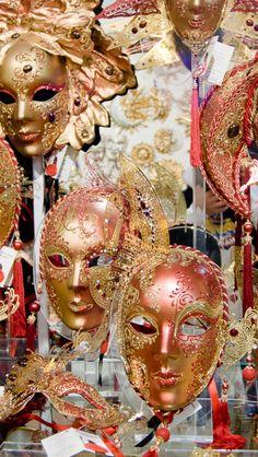 Masks of Venice Carnival Carnival Venice, Carnival Masks, Masquerade Mask Makeup, Party Masks, Venetian Masks, Mask Shop, Venice Italy, Crowns, Faces