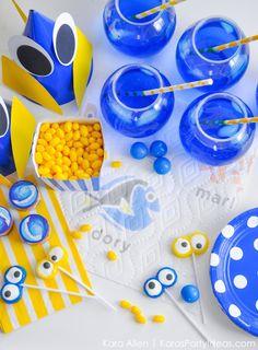 DIY Finding Dory Themed Birthday Party by Kara Allen | Kara's Party Ideas | KarasPartyIdeas.com for Bounty-26