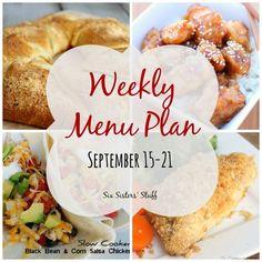 Weekly Menu Plan September 15-21 Six Sisters