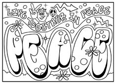 Graffiti Coloring Pages Sheets For Kids Girls To