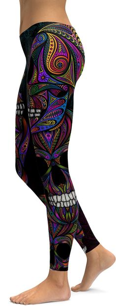 "We know you guys love our best seller ""Ornament Skull Leggings"". Therefor we asked our designers to recreate this item in to a bright an colorful version. They used the same stunning setup, but includ"