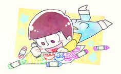 おそ松さん  Osomatsu-san  十四松「おそ松さんログ」/「まなつ」の漫画 [pixiv]