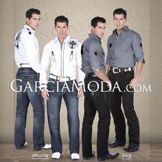 Pantalón Lamasini Jeans 1176 Pantalón Mezclilla Corte Recto con Diseño Bolsa Trasera