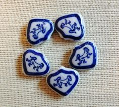 Monkey Blue and White Porcelain Chinese Zodiac by RusticBead
