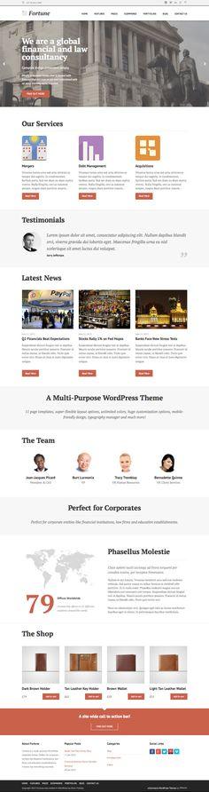 Fortune WordPress Perfect Business Theme