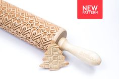 Ho, ho, ho..... Christmas time!  Engraved rolling pin with Scandinavian pattern  Using an engraved rolling pin can be a great way to pump up your