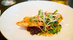 Bourbon Steak Tapioca Crusted Yellowtail Snapper