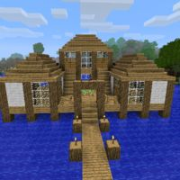 House in the water which can serve as docks or main base. To create it you will need a LOT of...