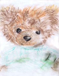 Teddy bear, pastel, Mishutka  , nursery decor,  wall decor,  animal art, art print