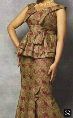 Best African Dresses, Oak Leaves, Plus Size Dresses, African Fashion, Peplum Dress, Vans, Sew, Gallery, Design