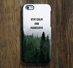 Stay Calm Forest iPhone 6s Case iPhone 6s Plus Case iPhone 6 Cover iPhone 5S 5 iPhone 5C iPhone 4/4s Galaxy S6 Edge Galaxy s6 s5 Galaxy Note 5 Phone Case 161