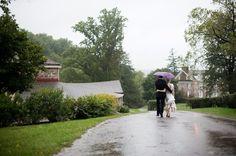 Barn Wedding In The Rain