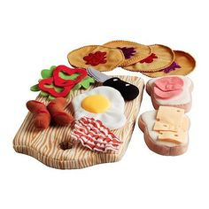 The DUKTIG breakfast set is one of the product in the new IKEA advert. Kids will love imitating grown ups with this breakfast set Play Kitchens, Ikea Breakfast, Modern Kids Toys, Duktig, Ikea Toys, Children's Toys, Felt Food, Play Food, Pretend Food
