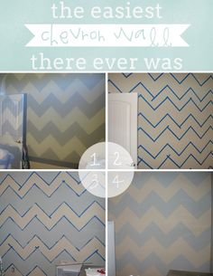 Project, tape, paint, finished! As you can tell, I'm a little obsessed with chevrons right now When we bought our house, I knew I wanted a chevron wall somewhere, and my craft room seemed like the ...