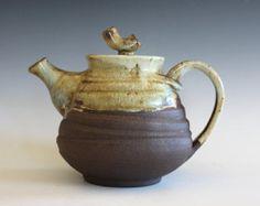 Tetera de cerámica hecha a mano tetera gres hechas a mano