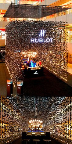 Hublot pop-up store in Singapore | A rain of black gems
