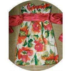 New Listing  Satin Fliral Dress Size 1 Trixxi Great condition. 11-21-15 Trixxi Dresses Mini