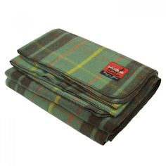 New Wool Plaid Blankets (Green/Brown)