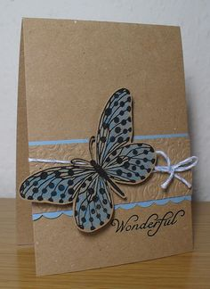 butterfly on kraft