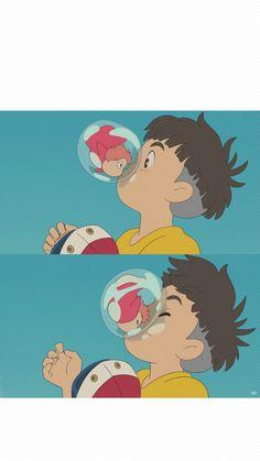 지브리 배경화면, 벼랑위의 포뇨 핸드폰 배경화면 : 네이버 블로그 Hayao Miyazaki, Studio Ghibli Art, Studio Ghibli Movies, Studio Ghibli Characters, Anime City, Another Anime, Animation, Cool Paintings, I Love Anime