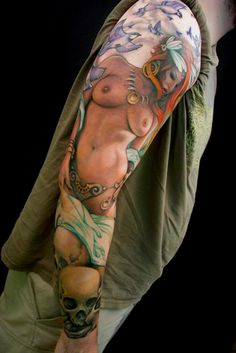 this is the most realistic tattoo of a woman i have ever seen