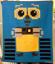i love this wall-e quilt.