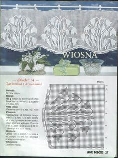 View album on Yandex. Crochet Curtains, Lace Curtains, Crochet Tablecloth, Crochet Doilies, Crochet Flowers, Crochet Patterns Filet, Crochet Borders, Fillet Crochet, Crochet Decoration