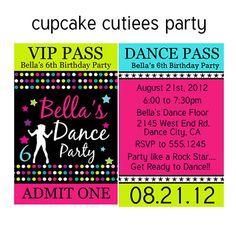 Zumba party invitation zumba dance party printable zumba party dance party vip lanyard badge custom invites digital printable invitations printable u print stopboris Images