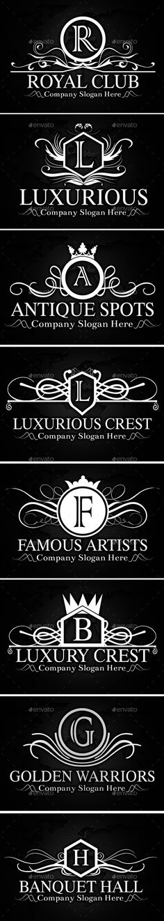 Heraldic Crest Logos — Vector EPS #coat of arms #salon • Available here → https://graphicriver.net/item/heraldic-crest-logos/12650971?ref=pxcr