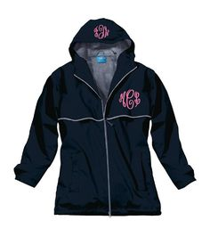 Monogram Lined Rain Jacket - Black - This jacket is so chic and preppy, you'll wish for a rainy day.