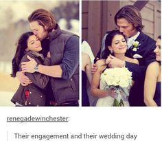 Jared Padalecki // Genevieve Cortese // Wedding