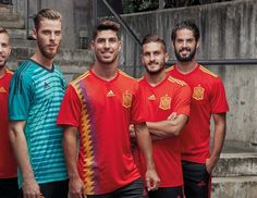 Spain 2018 FIFA World Cup Home (Red) and Goalkeeper (Blue) Kits