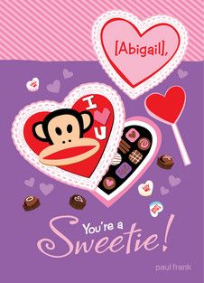 Heart Candy Paul Frank Valentine's Day card