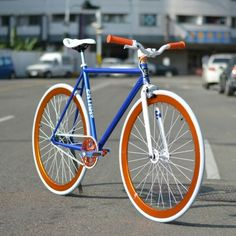 Blue & orange bike