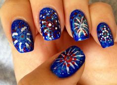 ehmkay nails: Celebrate the Fourth with Fireworks on your Nails!